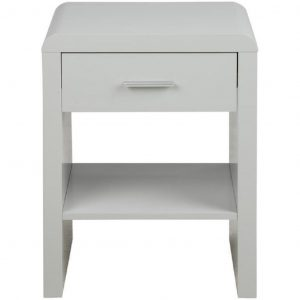 SCANDI Bílý noční stolek Daisy - Šířka45 cm- Výška move 59 cm