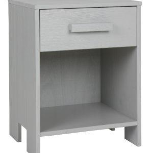 Hoorns Světle šedý noční stolek Koben - Výška52 cm- Šířka move 39 cm