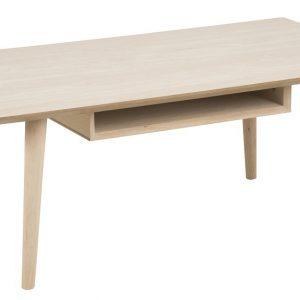 SCANDI Světlý dubový konferenční stolek Celia 115 cm - Šířka115 cm- Výška 42 cm