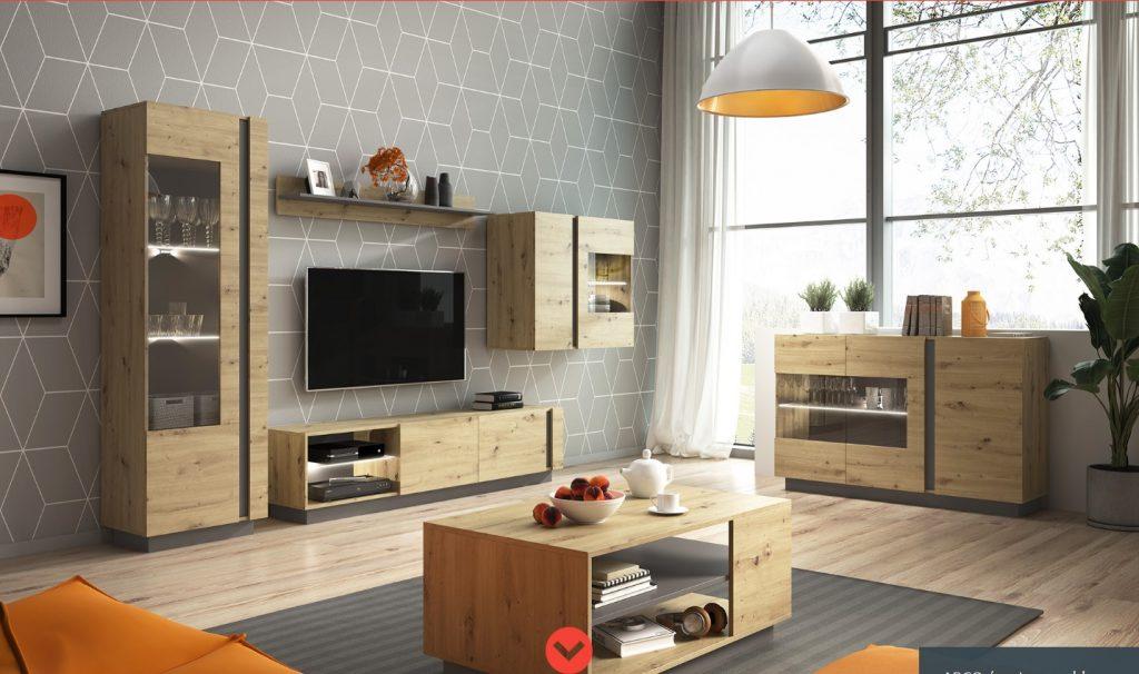 Moderní bytový nábytek Airoo sestava B - Inspirace a fotogalerie