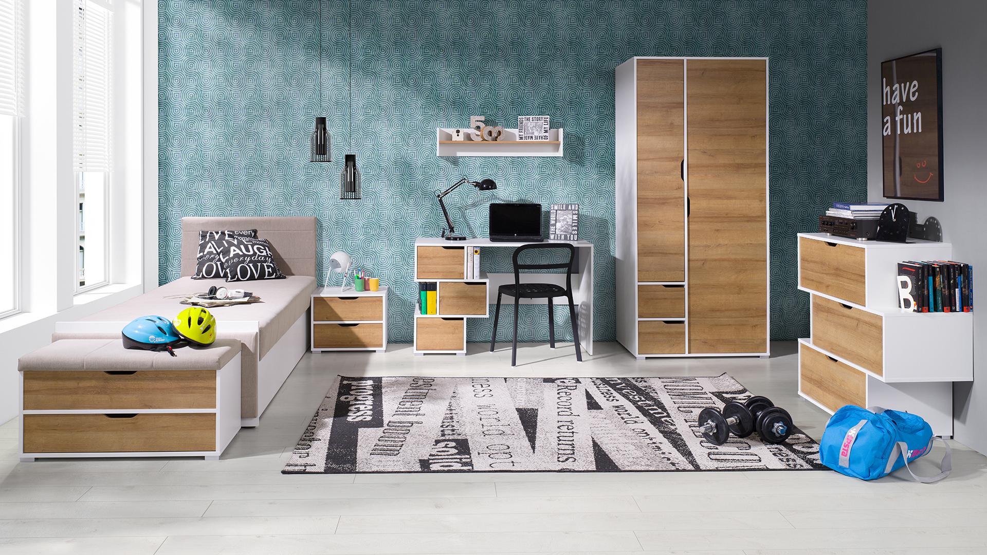 Moderní studentský nábytek Arabela sestava H - Inspirace a fotogalerie