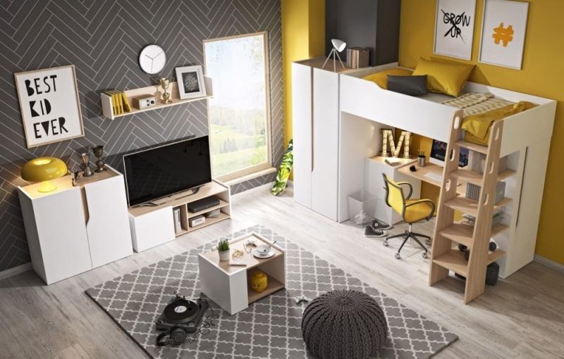 Studentský pokoj Butto s patrovou postelí - Inspirace a fotogalerie