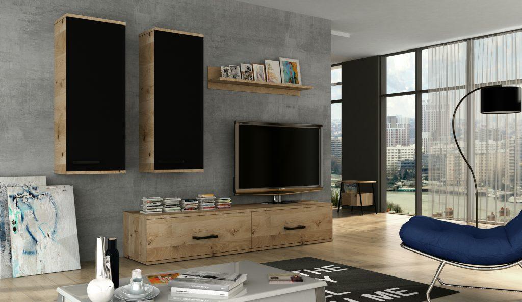 Moderní obývací stěna Frank