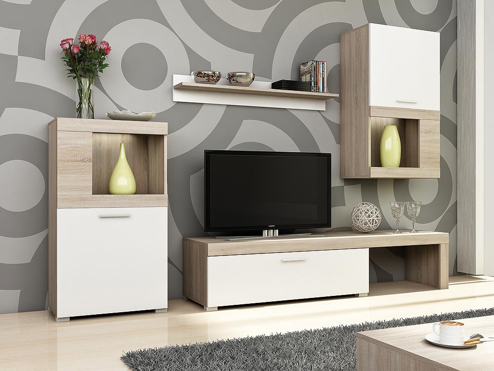 Levná moderní obývací stěna Kolk - Inspirace a fotogalerie