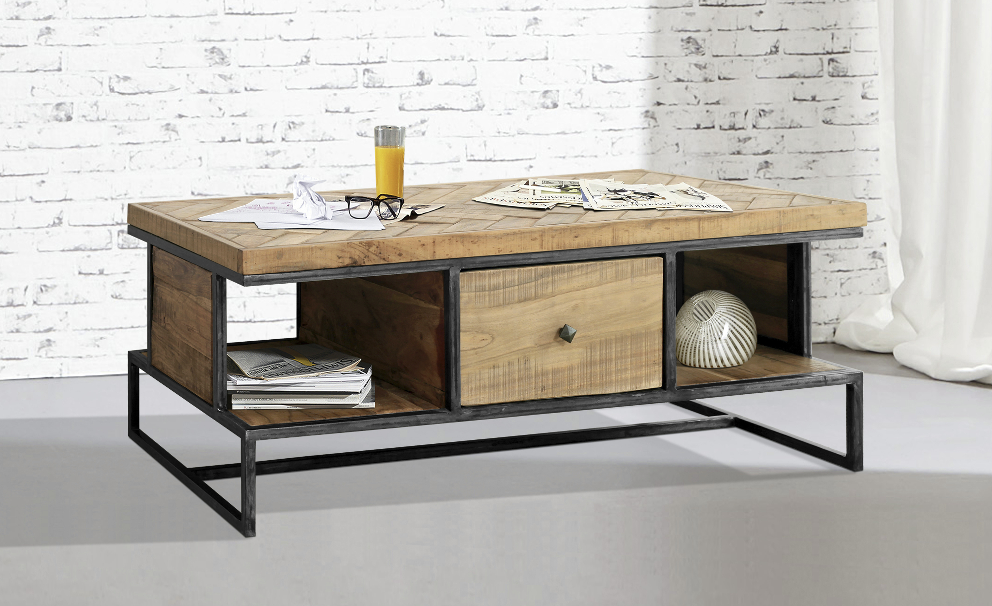 Obývací pokoj Parquet konferenční stolek - inspirace a fotogalerie