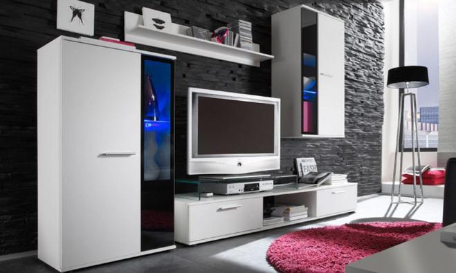 Obývací stěna bílá Alien 1 - Inspirace a fotogalerie