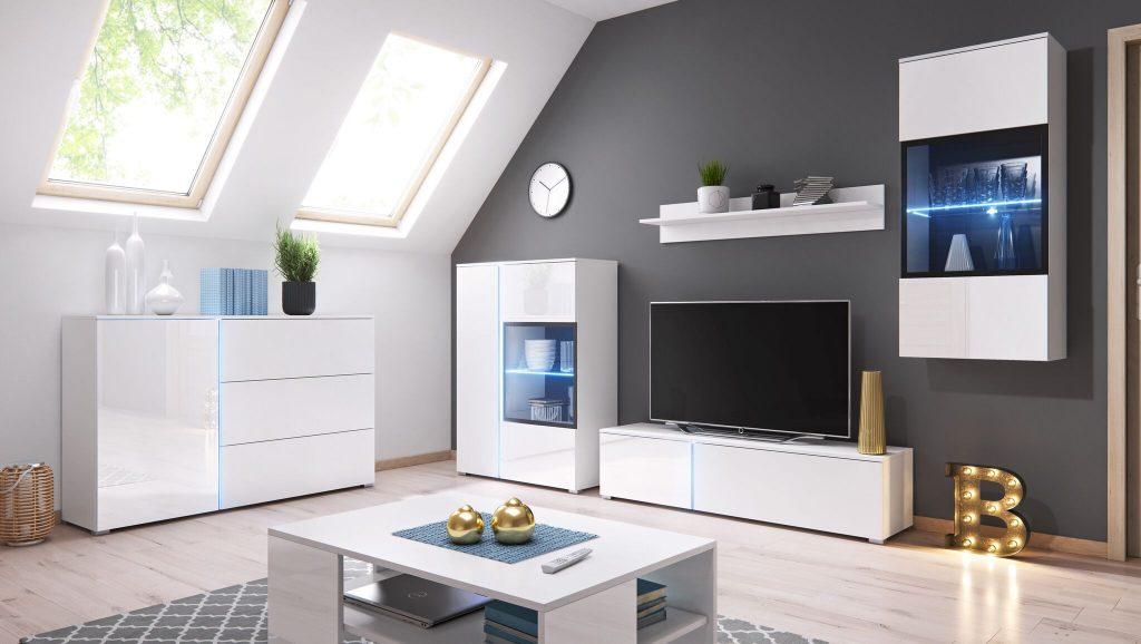 Moderní bytový nábytek Sing B + LED - Inspirace a fotogalerie