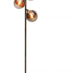 Hoorns Trojitá měděná stojací lampa Bertha - Výška158 cm- Celkový průměr 43 cm