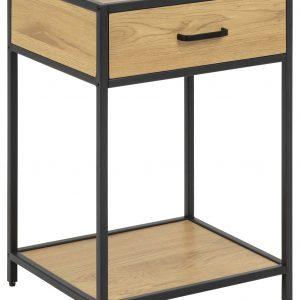 SCANDI Přírodní noční stolek Darila 42 cm se šuplíkem - Výška63 cm- Šířka move 42 cm
