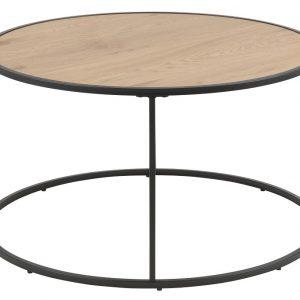 SCANDI Dubový kulatý konferenční stolek Darila 80 cm - Korpus moveDýha