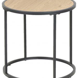 SCANDI Dubový kulatý odkládací stolek Darila 43 cm - Výška43 cm- Průměr move 45 cm
