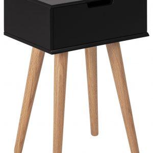 SCANDI Černý noční stolek Marika - Výška61