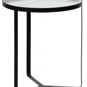 Hoorns Skleněný odkládací stolek Corbie 45 cm - Výška55 cm- Průměr move 45 cm