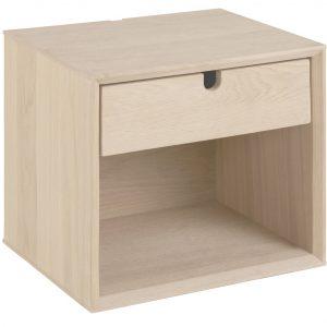 SCANDI Dubový noční stolek Celia 33 cm - Šířka37 cm- Hloubka move 32 cm