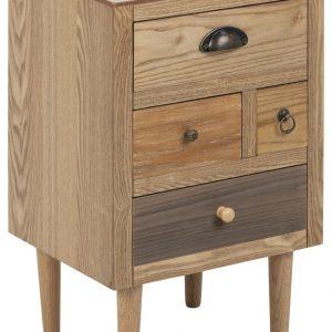 SCANDI Hnědý dřevěný noční stolek Emer - Výška59 cm- Šířka 30 cm