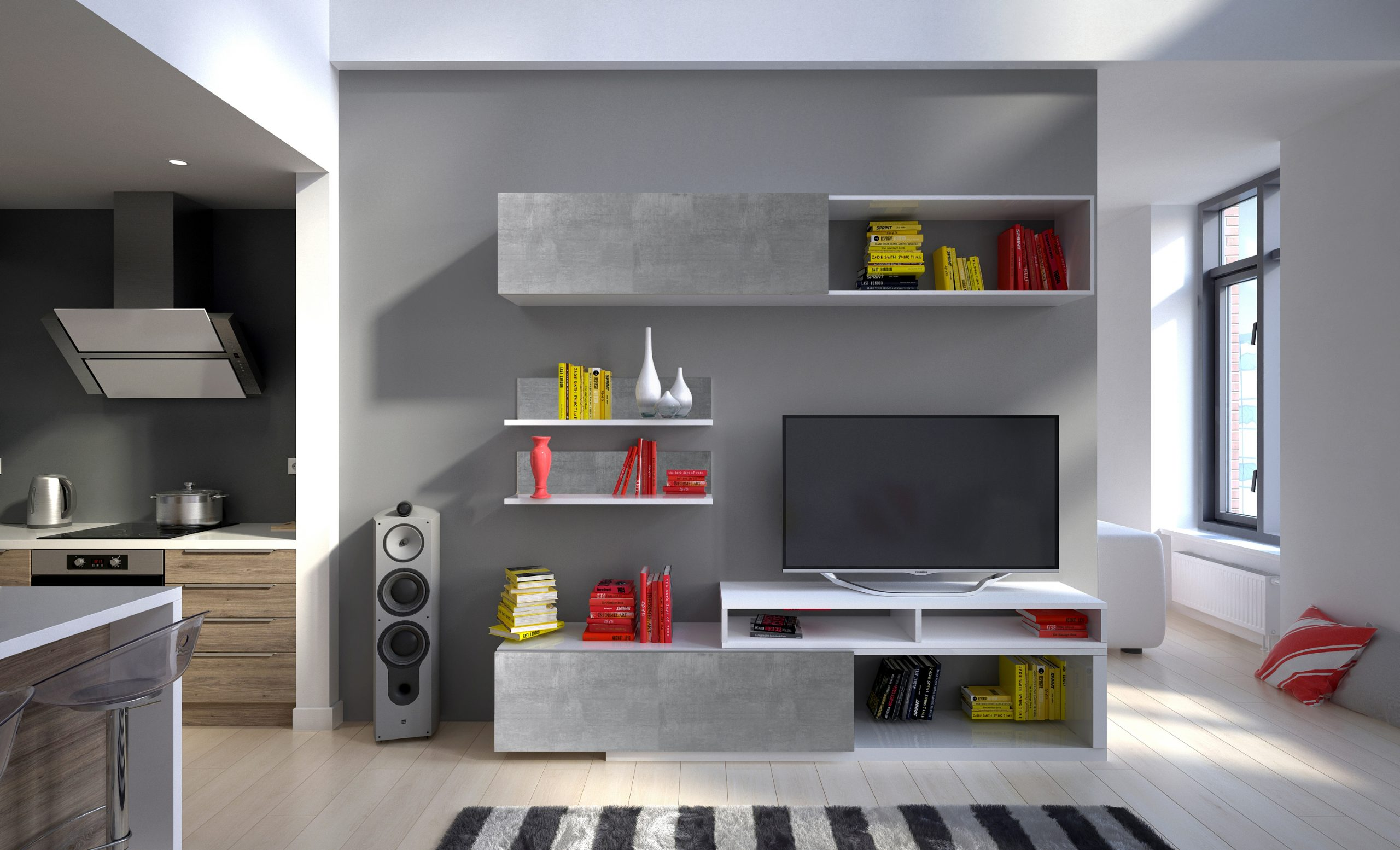 Moderní obývací stěna Trasco