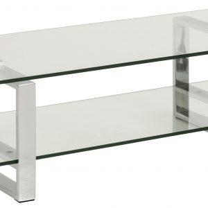 SCANDI Skleněný TV stolek Divo 120x45 cm - Výška32 cm- Šířka move 120 cm