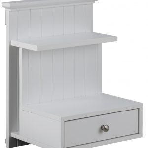 SCANDI Bílý nástěnný noční stolek Chamber - Šířka40 cm- Výška move 50 cm