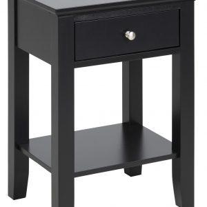 SCANDI Černý noční stolek Chamber - Šířka45 cm- Výška move 62