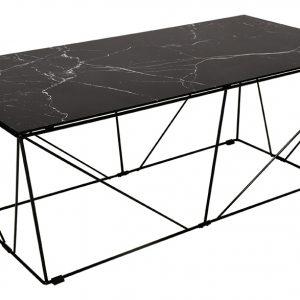 Černý skleněný konferenční stolek RGE Cube 120 cm - Výška45 cm- Šířka move 120 cm