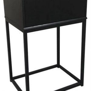 SCANDI Černý noční stolek Mirage - Výška61