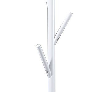 Moebel Living Bílý kovový věšák Rooney - Výška172 cm- Šířka move 30 cm