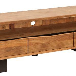 Moebel Living Masivní akátový TV stolek Holz 160 x 41 cm - Výška50 cm- Šířka 160 cm
