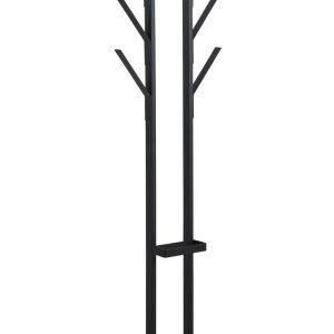 SCANDI Černý kovový věšák Vilson U - Výška165 cm- Šířka move 56 cm