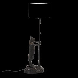 Černá stojací lampa Bold Monkey No Girlfriend No Problem - Výška108 cm- Šířka 33 cm