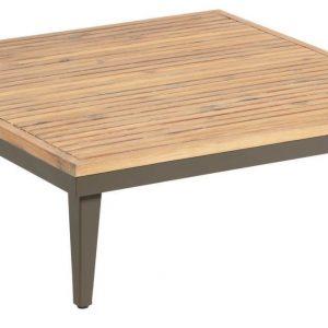 Dřevěný zahradní konferenční stolek LaForma Pascale 90 x 90 cm - Výška32 cm- Šířka move 90 cm
