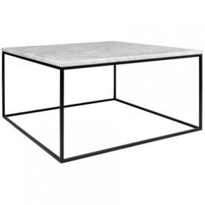 Porto Deco Bílý mramorový konferenční stolek Amaro III 75x75 cm - Výška40 cm- Šířka move 75 cm