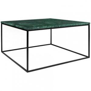 Porto Deco Zelený mramorový konferenční stolek Amaro III 75x75 cm - Výška40 cm- Šířka move 75 cm