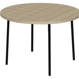 Porto Deco Světlý dřevěný konferenční stolek Ollia 70 cm - Výška45 cm- Průměr move 70 cm