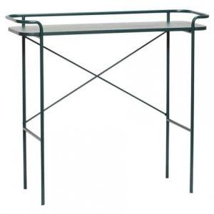 Zelený dřevěný toaletní stolek Hübsch Maja 100x37 cm - Výška91 cm- Šířka move 100 cm