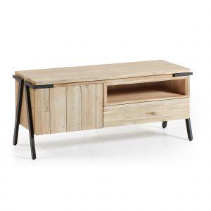 Masivní akátový TV stolek LaForma Disset 125 x 45 cm - Výška53 cm- Šířka move 125 cm
