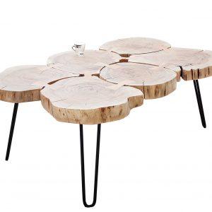 Moebel Living Masivní akátový konferenční stolek Barstow 115 x 70 cm - Výška40 cm- Šířka move 115 cm