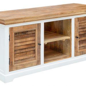 Moebel Living Masivní mangový TV stolek Provence 160 x 50 cm - Výška70 cm- Šířka move 160 cm