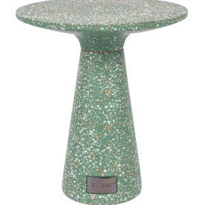 Zelený terrazzo odkládací stolek ZUIVER VICTORIA 41 cm - Průměr move41 cm- Výška move 47 cm