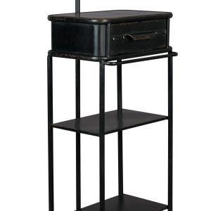 Černý kovový vintage věšák na oblečení DUTCHBONE Lion - Výška130 cm- Hloubka move 30 cm