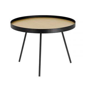 Přírodní odkládací stolek LaForma Nenet - Výška44 cm- Průměr move 60 cm
