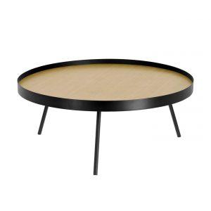 Přírodní konferenční stolek LaForma Nenet - Výška35 cm- Průměr move 84 cm
