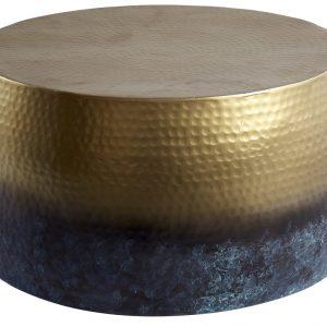 Moebel Living Zlatý konferenční stolek Marteau III. 60x60 cm - Šířka60 cm- Výška move 31 cm