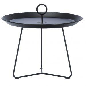 Černý kovový konferenční stolek HOUE Eyelet 59 cm - Průměr move59 cm- Deska move Černě lakovaný kov