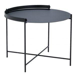 Černý kovový konferenční stolek HOUE Edge 62 cm - Průměr move62 cm- Deska move Černě lakovaný kov