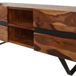 Moebel Living Masivní televizní stolek Tanzani II. 160x45 cm - Šířka160 cm- Výška 63 cm