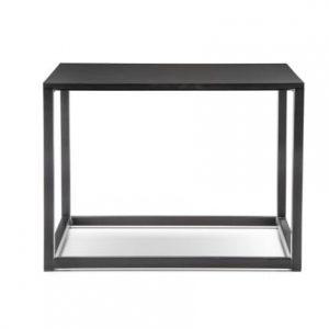 Pedrali Černý kovový konferenční stolek Code 50x50 cm - Výška36 cm- Deska move Laminát