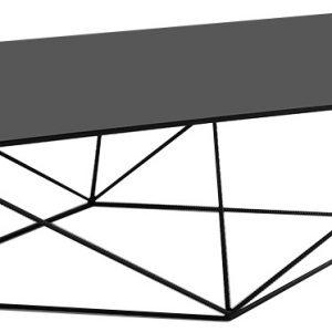 Nordic Design Kovový konferenční stolek Deryl 140x80 cm - Výška45 cm- Šířka move 140 cm
