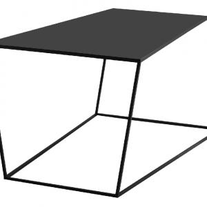 Nordic Design Černý kovový konferenční stolek Nara 100x60 cm - Hloubka move60 cm- Výška move 55 cm