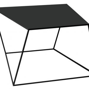 Nordic Design Černý kovový konferenční stolek Nara 80x80 cm - Šířka move80 cm- Hloubka move 80 cm