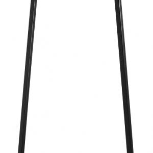 Nordic Design Černý kovový věšák Pablo 50 cm - Výška move170 cm- Hloubka move 50 cm